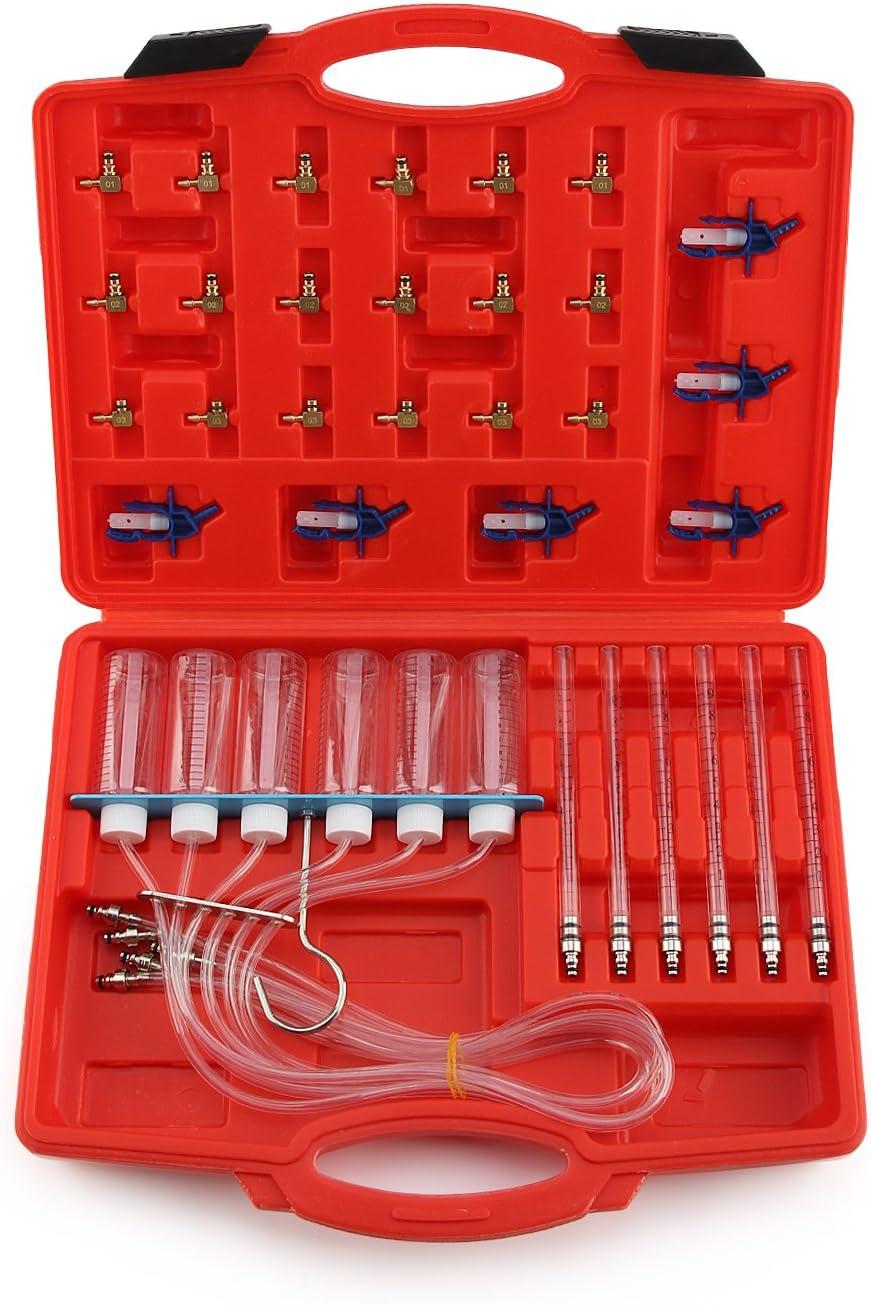 MorNon Kit Test D/ébit pour Injecteur /à Rampe Commune et Adaptateurs Outils T5N2