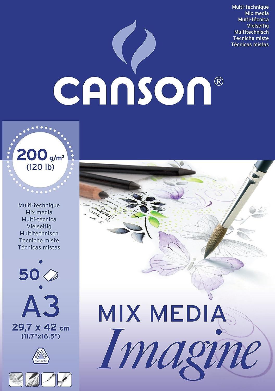formato A3 200 g Canson 200006007 Carta da disegno blocco da 50 fogli