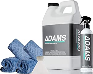 Adam's Ceramic Waterless Wash Kit - Car Cleaning SI02 Ceramic Coating Spray | Waterless Car Wash Kit Top Coat Cleaner | Safe On Wheels Car Windows Glass | Quick Detail Spray Ceramic Car Wax Boost