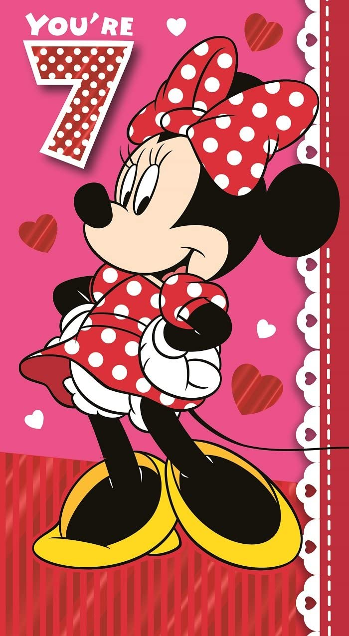 Amazon.com: Minnie Mouse Birthday Card - Age 7: Office Products
