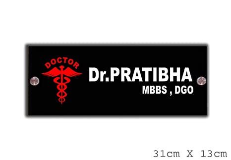 Buy Signoogle Personalized Doctor Name Plates For Home Door Table