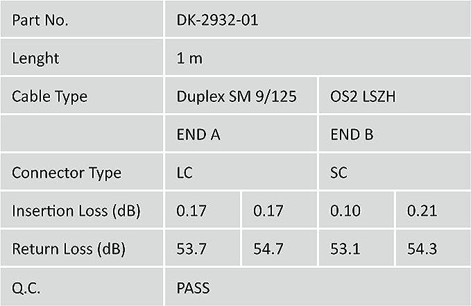 Duplex monomode 09//125/µ DIGITUS LWL c/âble patch OS2-2 m LC vers SC c/âble fibre optique 10 GBit//s LSZH jaune