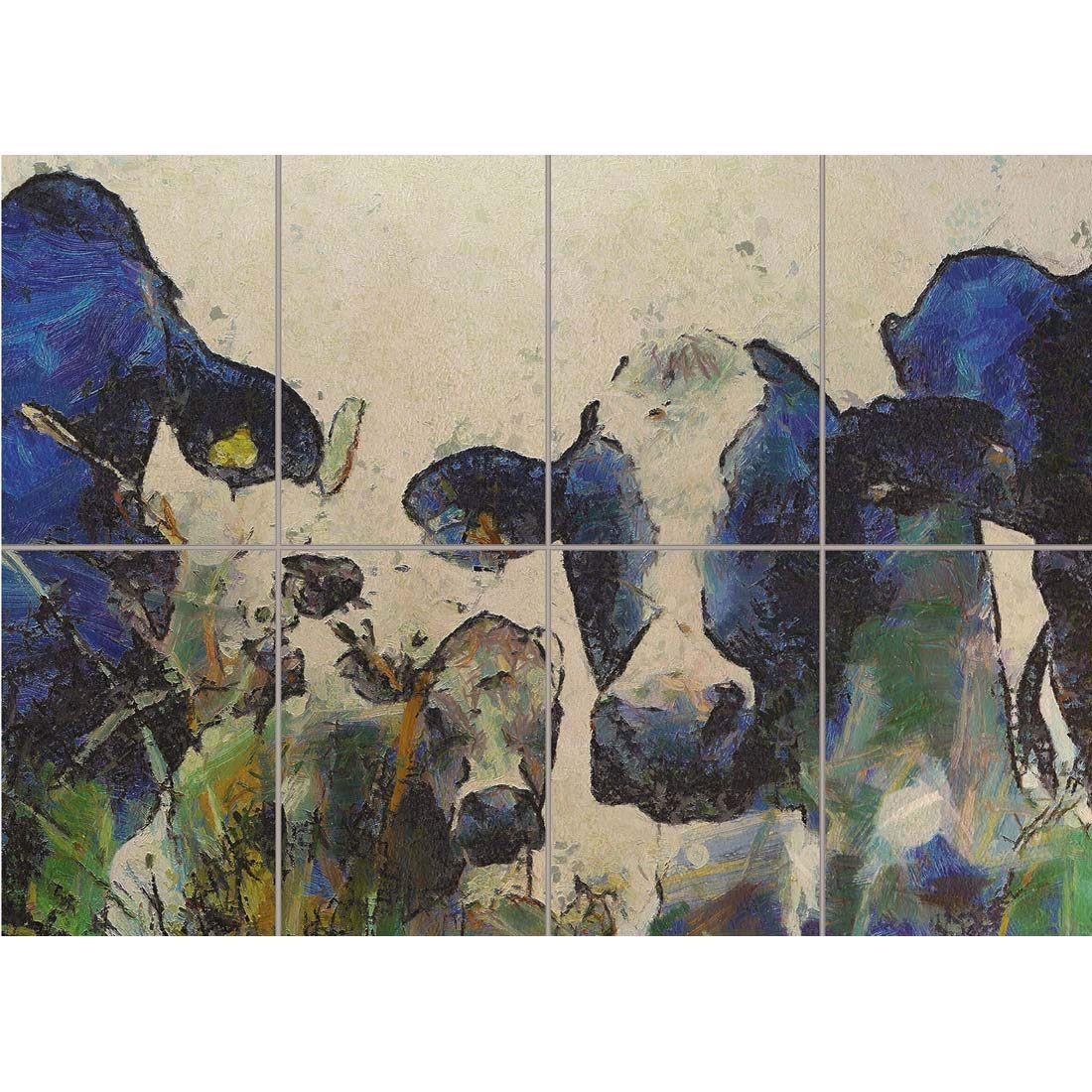 NATURE COW CATTLE FARM ANIMAL GIANT WALL ART PRINT PANEL ...