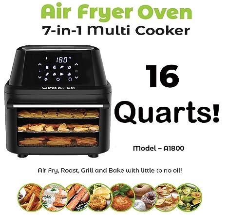 Amazon.com: Master Culinary Freidora de aire A-1800 | 16 ...