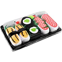 SUSHI SOCKS BOX 3 pairs Tamago Cucumber Salmon FUNNY GIFT! Made in Europe