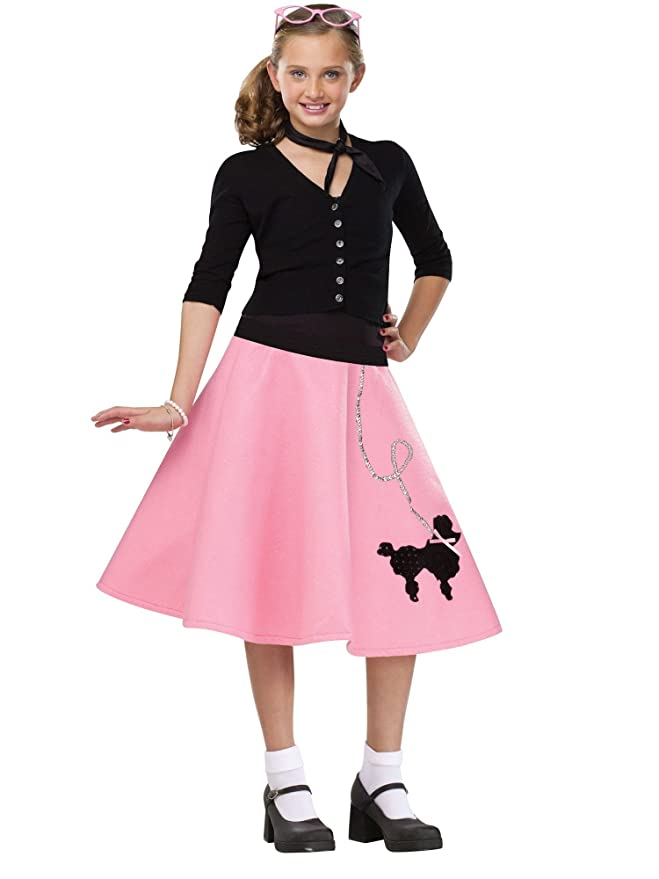 Kids 1950s Clothing & Costumes: Girls, Boys, Toddlers Kids 50s Poodle Skirt $23.87 AT vintagedancer.com