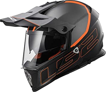 LS2 Casco de moto Mx436 Pioneer Element, color negro titanio mate, ...
