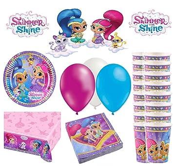 KIT de cumpleaños Shimmer y Shine 16 personas: Amazon.es ...