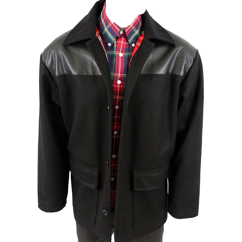 60s 70s Men's Jackets & Sweaters Warrior MPire Men´s Donkey Skinhead Punk Jacket Coat Tartan Lining + PVC $99.90 AT vintagedancer.com