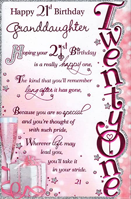 Happy 21st BirthDay GrandDaughter Happy 21st BirthDay – Niece 21st Birthday Cards