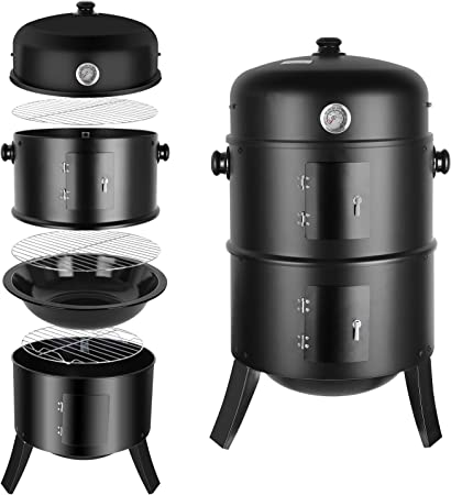 Femor Barbecue Fumoir Smoker, 3 en 1 Multifonctions BBQ