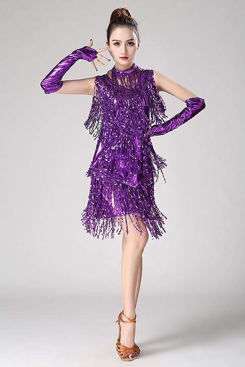 Lentejuelas Brillante Vestido de Danza Ballet Baile Mujer Leotardo ...