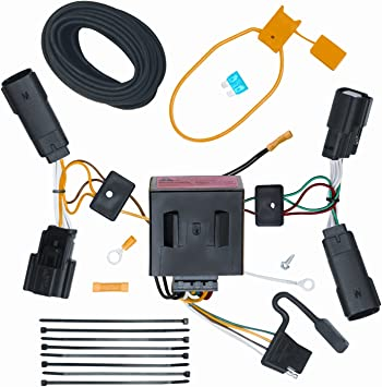 ecustomhitch vehicle to trailer wiring harness connector for 11 13 ford edge plug play automotive wiring harness pigtail connectors ford wire harness plugs #14