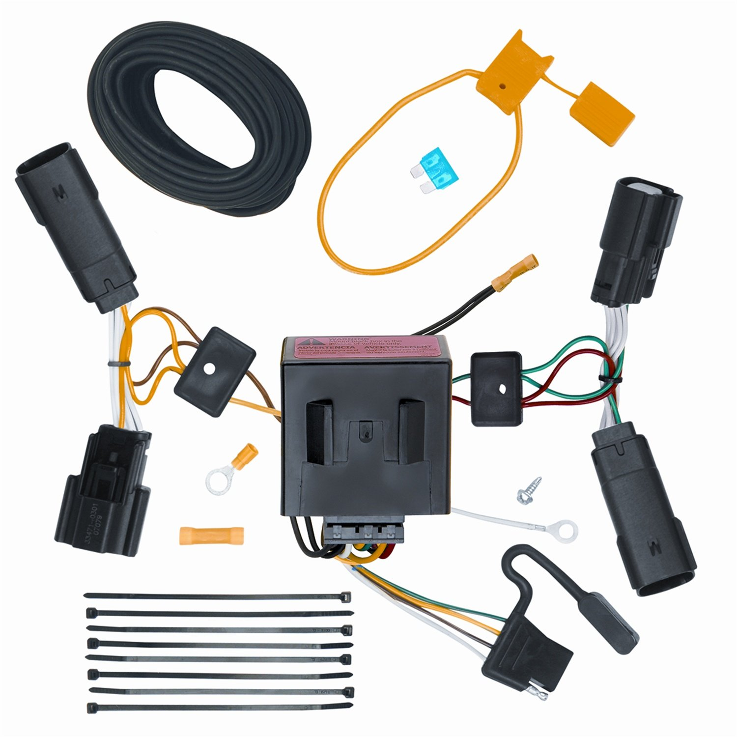 71y1tLrjWTL._SL1500_ amazon com vehicle to trailer wiring harness connector for 11 13 OEM Wiring Harness Connectors at bayanpartner.co