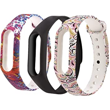 Greatfine Mi Band 2 Wrist Straps, Soft Silicone Replacment Sport Bands for  Xiaomi MI Band 2 - Pattern Printed