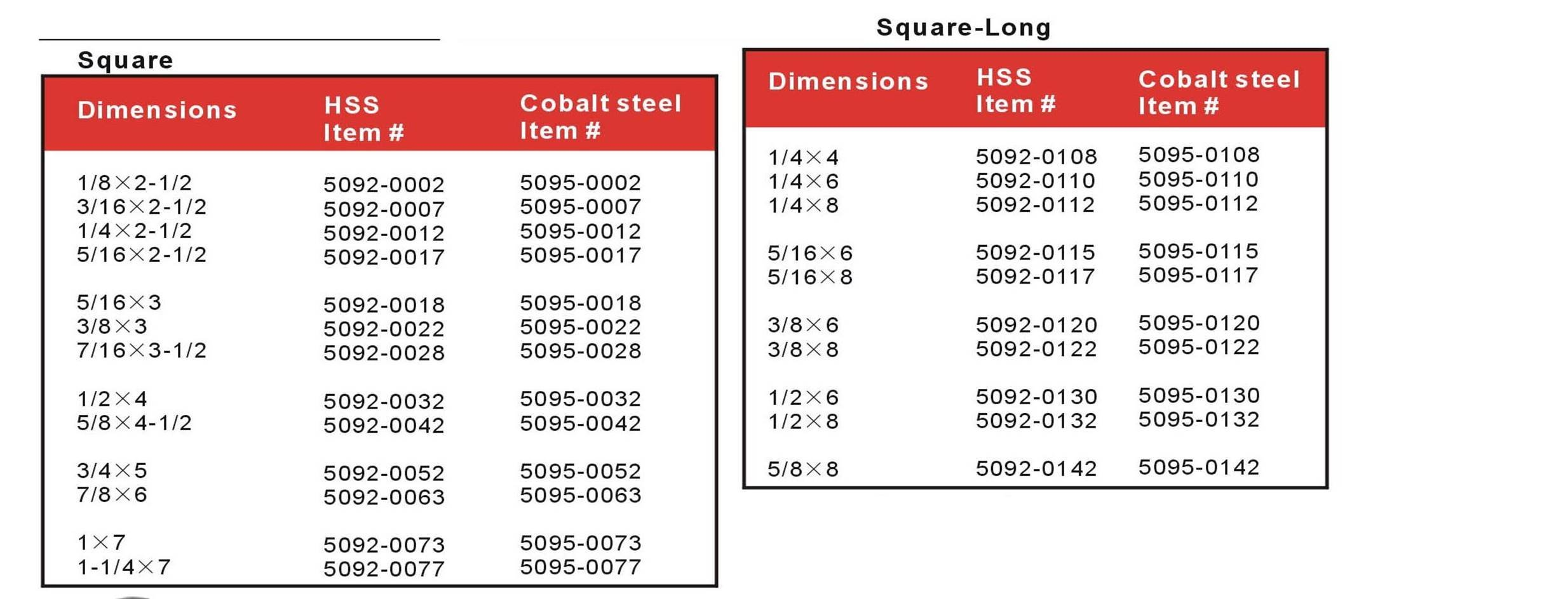 AccusizeTools - 1/2'' x 1/2'' x 4'', HSS +5% Cobalt lathe tool Bits, 5095-0032