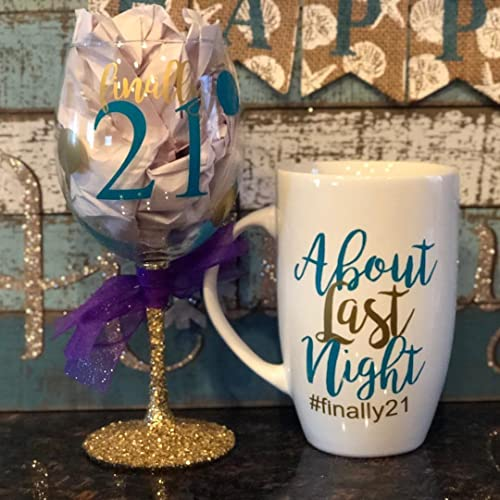Finally 21 About Last Night Birthday Gift Set 21st Personalized