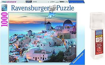 Outletdelocio. Pack Puzzle Ravensburger 19611. Paisaje Santorini. Grecia. 1000 Piezas + Pegamento Puzzle: Amazon.es: Juguetes y juegos
