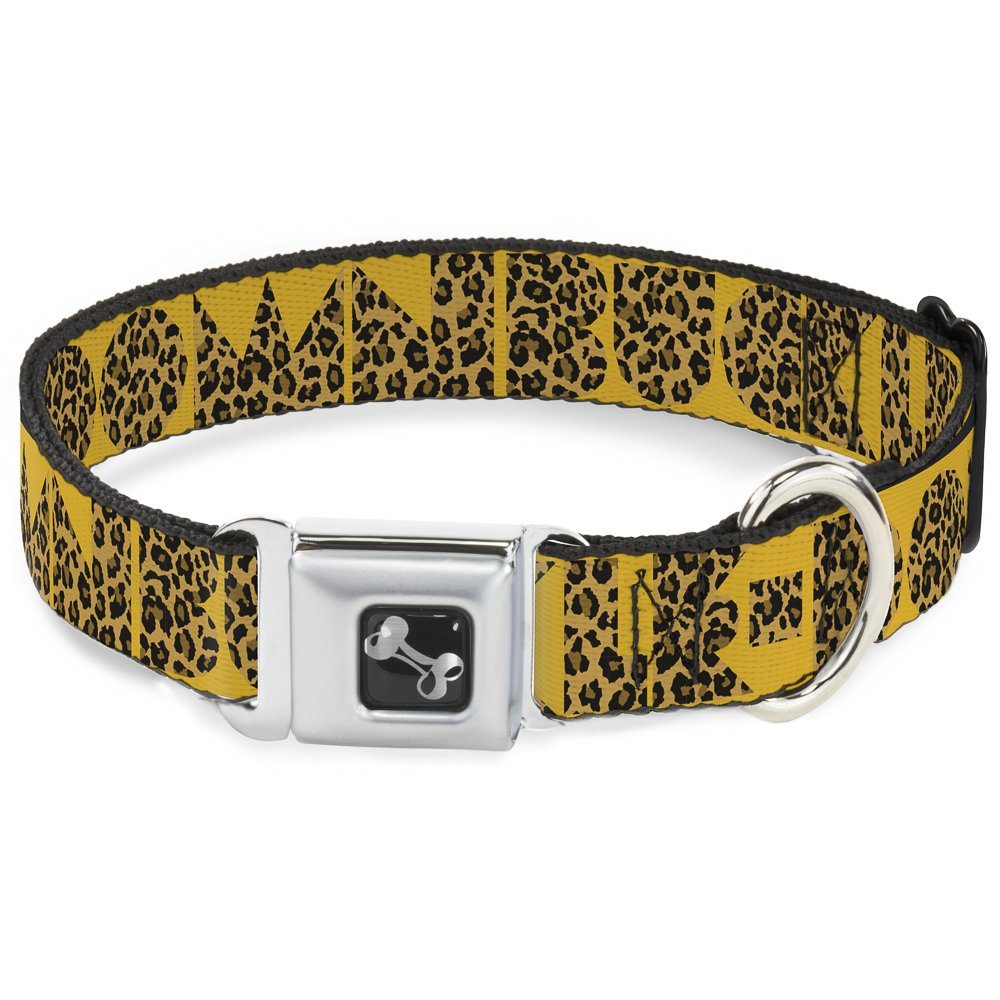 Buckle-Down DC-W32872-WL Seatbelt Dog Collar, 1.5  Wide-Fits 18-32  Neck-Large