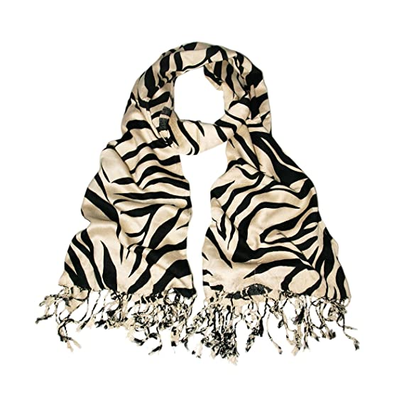 Stunning Large Safari Zebra Animal Print Scarf Choice of Colours