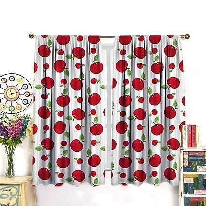 Phenomenal Amazon Com Despkon Apple Kitchen Curtains Vivid Colored Download Free Architecture Designs Scobabritishbridgeorg
