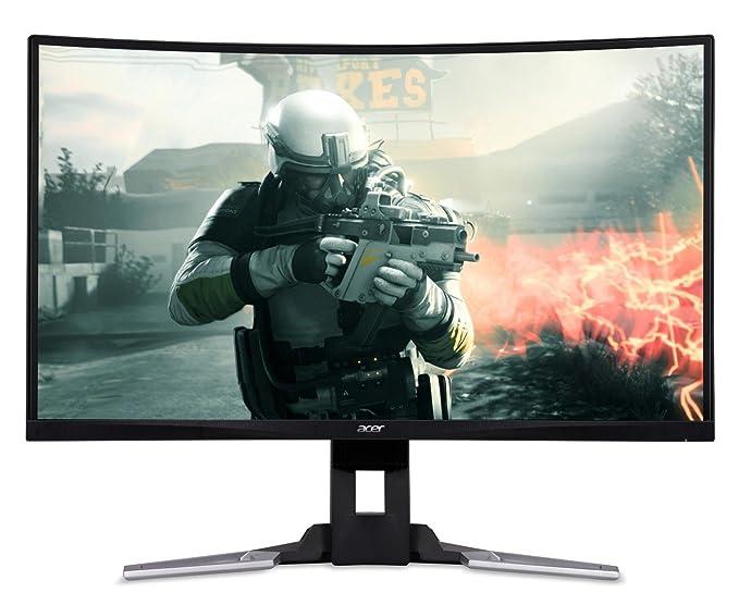 Acer XZ321QU 80 cm (31,5 Zoll WQHD) Curved Monitor (2x HDMI, DisplayPort, USB 3.0, 1ms Reaktionszeit, 144 Hz, Höhenverstellba