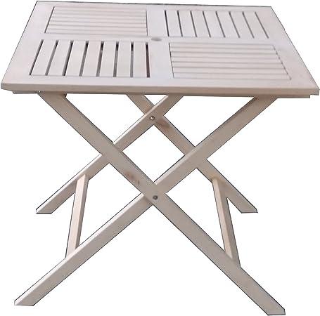 Pj Table Portable Pliante En Bois Table Pliante 80x80 Cm