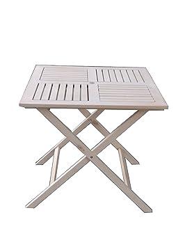 Pj Portable Pliante Table Bois80x80 CmNaturel En 80mNvnw