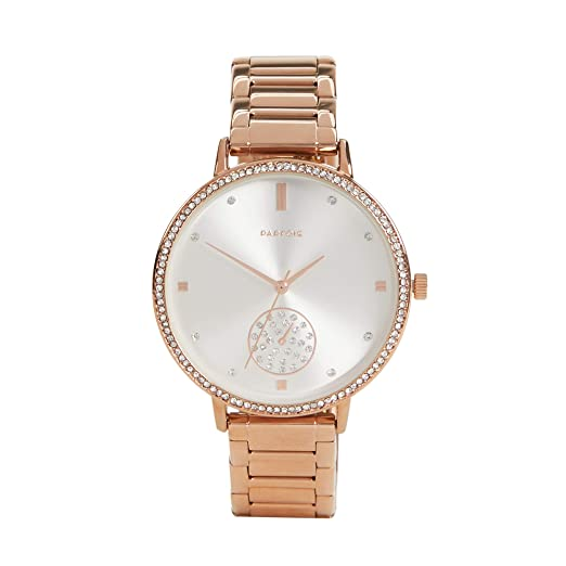 Parfois - Reloj Formal Rose Gold Tray - Mujeres - Tallas Única - Dorado