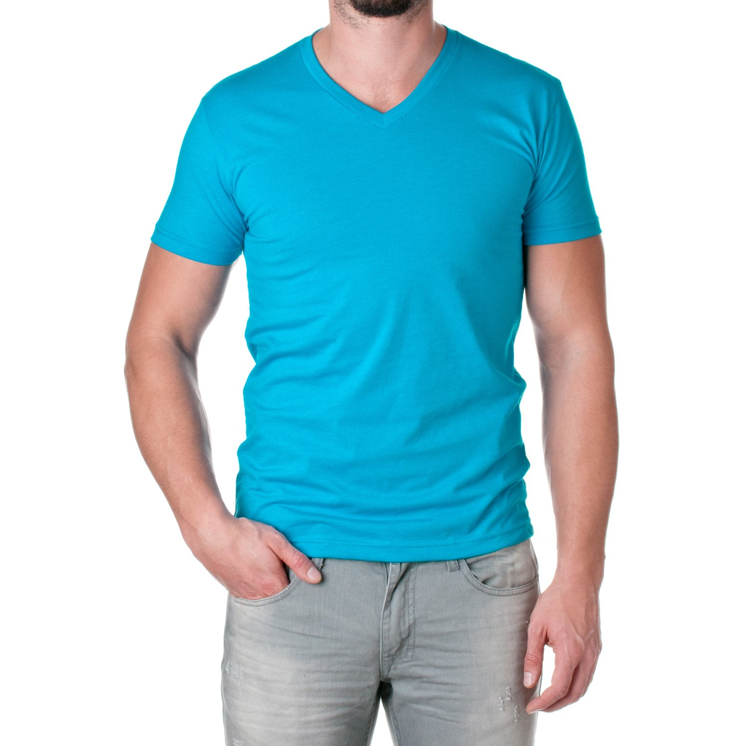 Next Level Men's CVC Combed Baby Rib-Knit V-Neck T-Shirt