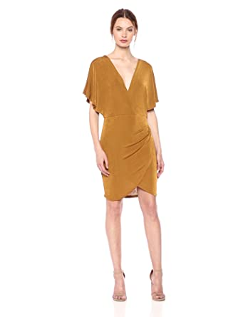 2cb2dff1788a ASTR the label Women s Haley Stretch Draped Bodycon Wrap Dress at ...