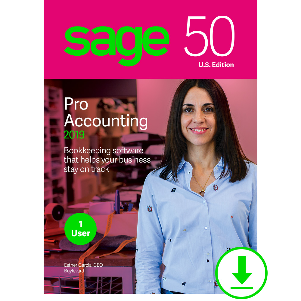 Sage 50 Pro Accounting 2019 U.S. [Download] by Sage Software