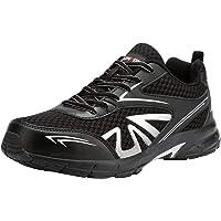 Zapatos de Seguridad Hombre,SRC Punta de Acero Anti-Deslizante Ligero Zapatillas de Trabajo Respirable Reflexivo…