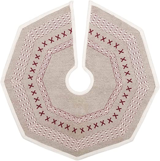Holly Berry Jute Red Stenciled Trivet 8 VHC Brands Christmas Holiday Tabletop /& Kitchen
