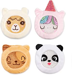 INDIGO CHILD : Premium Dual Action Hot or Cold Gel Packs   4 Pack   Soft Plush Fabric Sleeves   Adorable Zoo Animals Design   Durable Gel Bead Wrap   Perfect for Boo-Boos and Aches