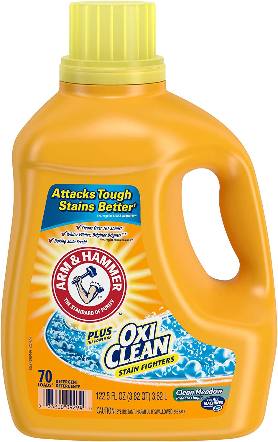 Arm & Hammer Plus OxiClean Clean Meadow Liquid Laundry Detergent, 70 loads