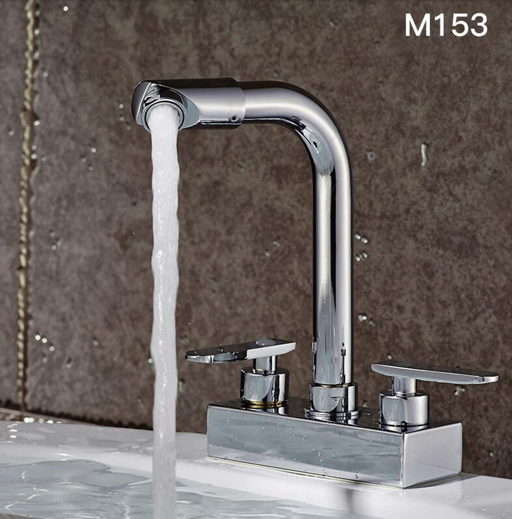 B Bathroom double double basin basin faucet bathroom full copper mixing valve wash basin basin pots hot and cold faucet ( color   D )
