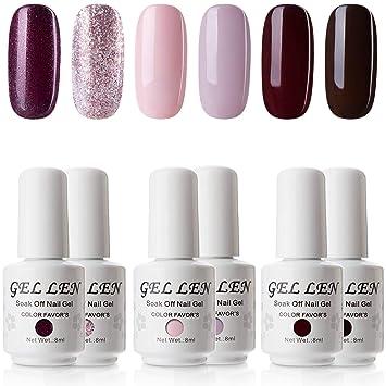 794414d512d Amazon.com   Gellen Gel Nail Polish Set 6 Colors - Mysterious Colors  Series