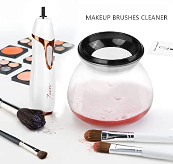 Premium Makeup Brush Cleaner (Automatic) Portable 360° Cleaning System |  Spins, Rinses, and Dries Brushes Fast | Efficient, Hypoallergenic, Safe on