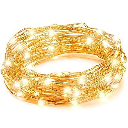 Copper wire string lights