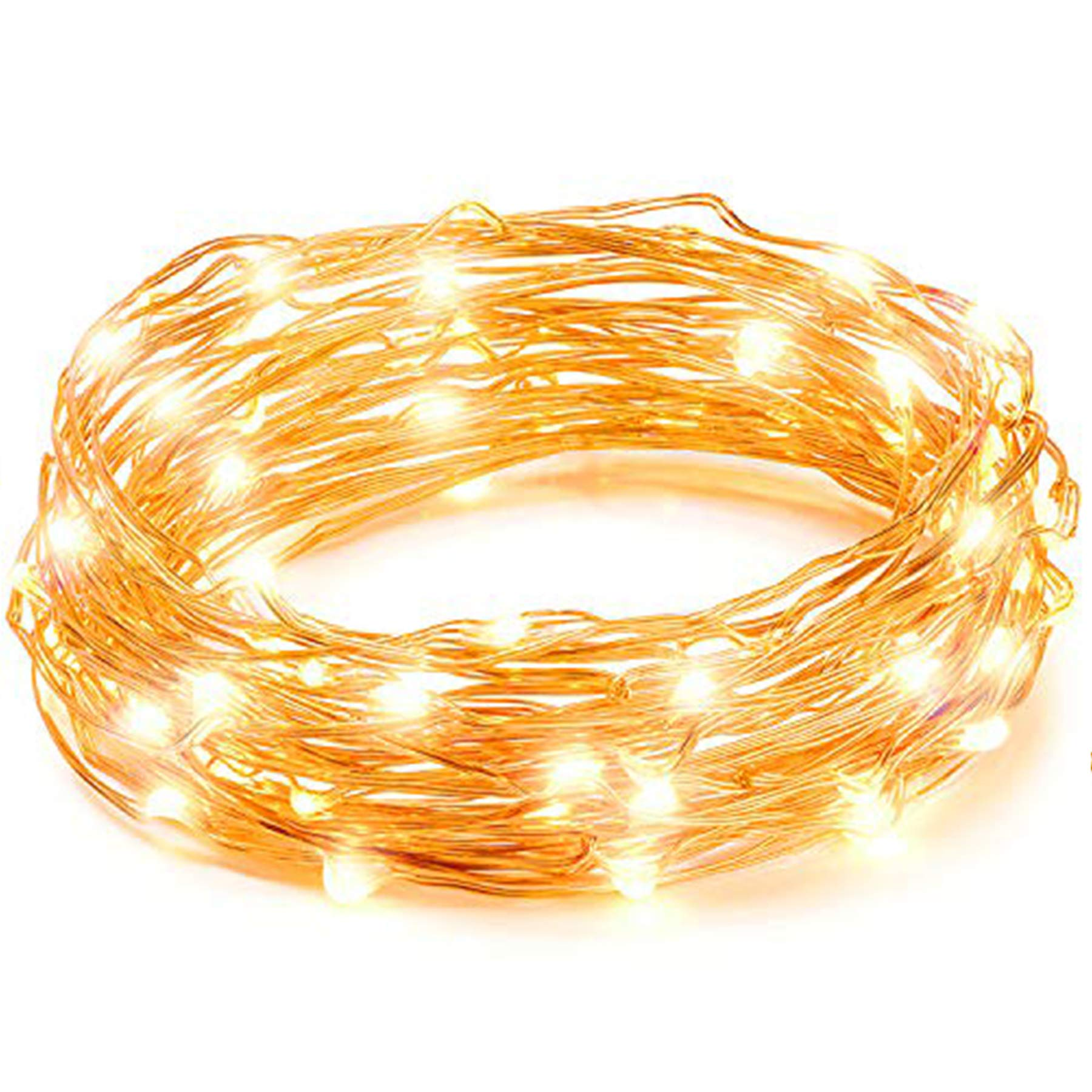 LED String Lights, Copper Wire Starry String Light, Soothing Decoration for Your Home & Bedroom, Elegant Rope Light Suitable for Christmas, Weddings, Parties Waterproof (33' 100 LEDs) - Vont