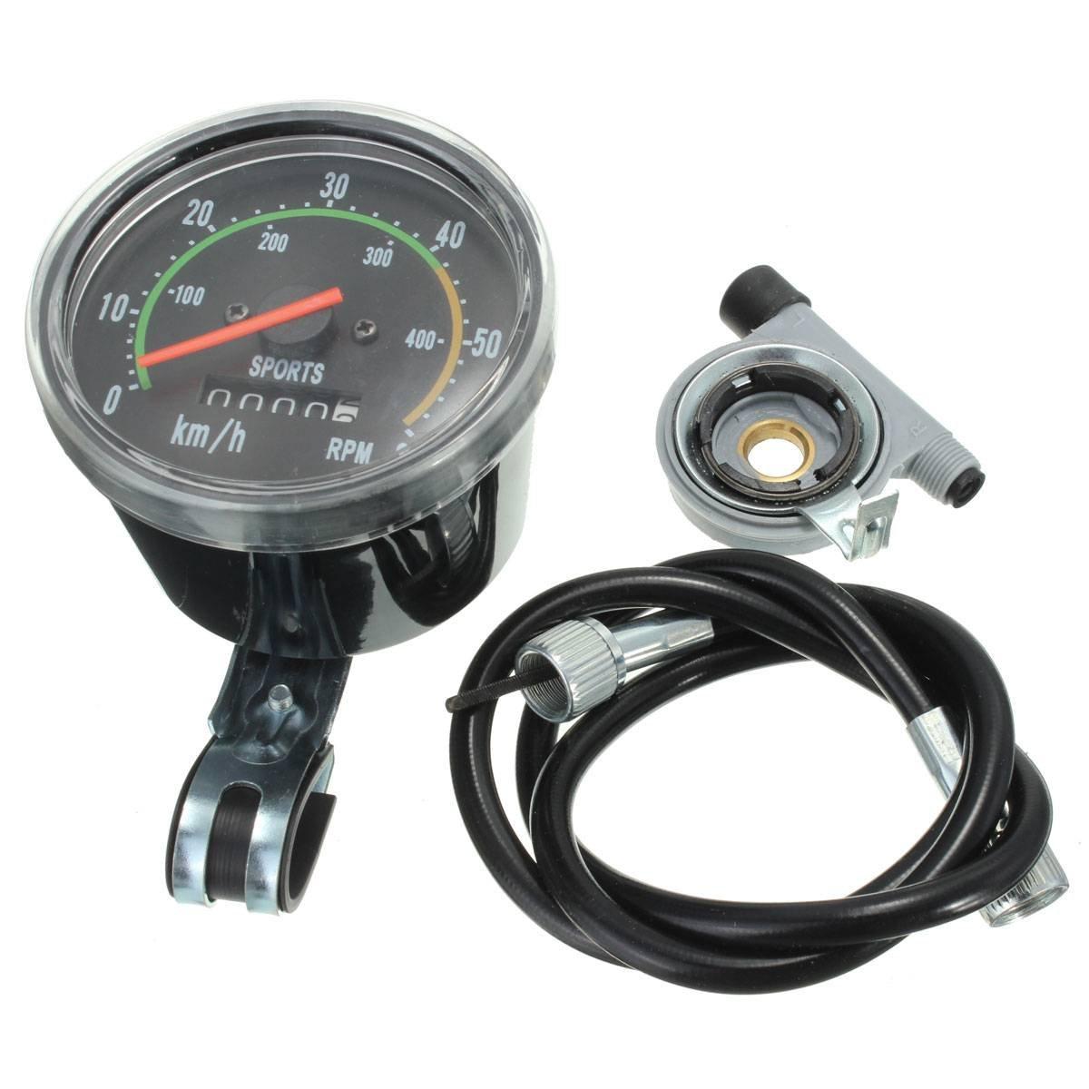 OUTERDO Black Classic Style Resettable Analog Bike Speedometer ...