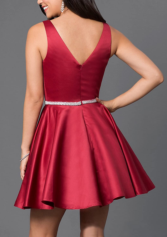 BRLMALL Damen Plain Satin Heimkehr Tanz Party Kleider: Amazon.de: Bekleidung