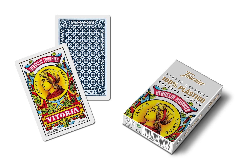 Outletdelocio. Baraja española Fournier. Calidad casino. 50 cartas de plastico lavable.