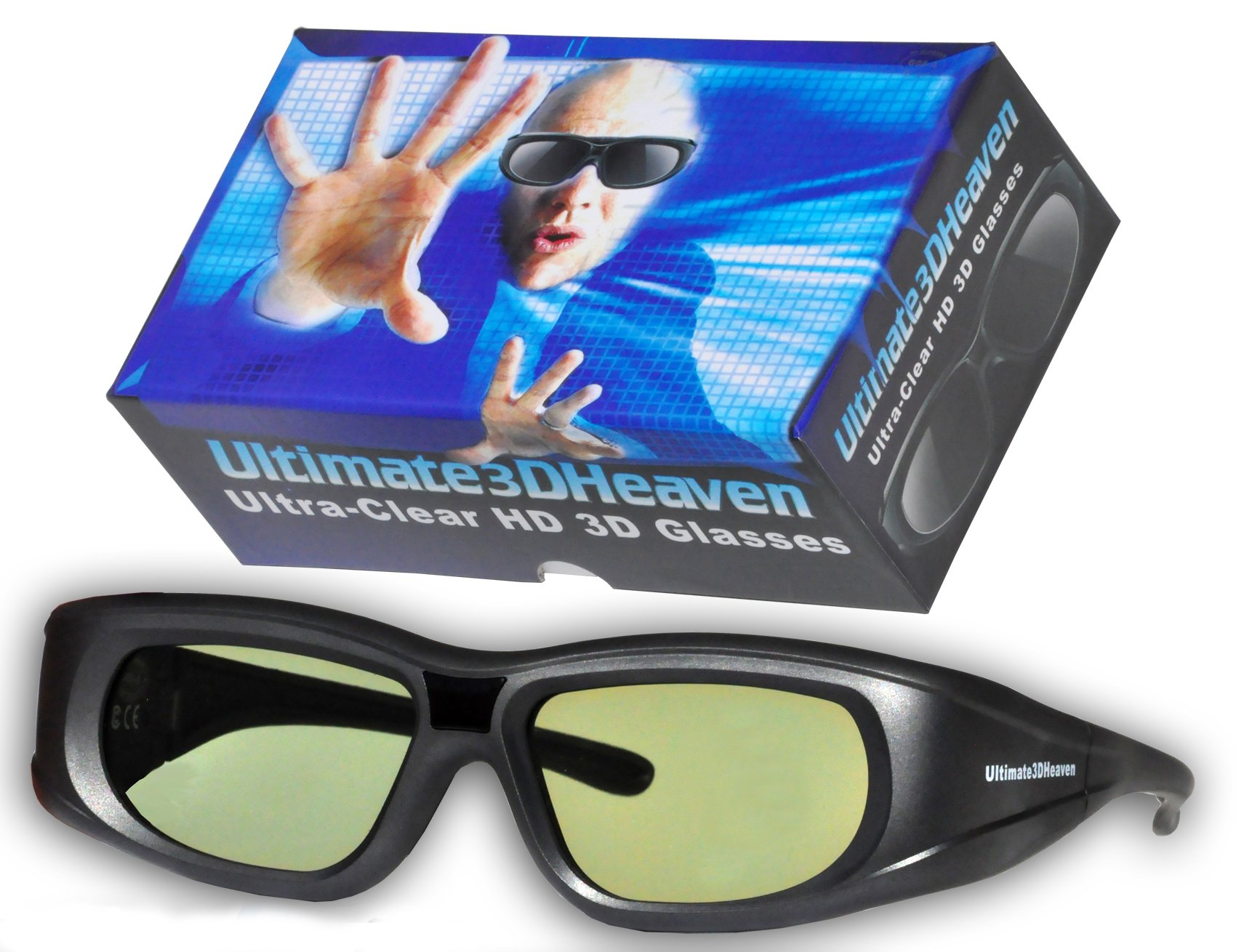 2 Ultra-Clear 3D Glasses for Panasonic 3D Televisions Rechargeable 2011 & Prior (IR) by 3DHeaven