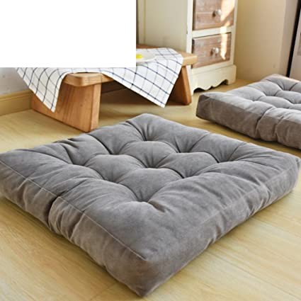 NVLKJHSFGIUJFKL Thicken Chair Cushion,Solid Square Seat Cushion Corduroy  Chair Pad Pillow Seat Soft Tatami Floor Cushion for Yoga Meditation Living  ...