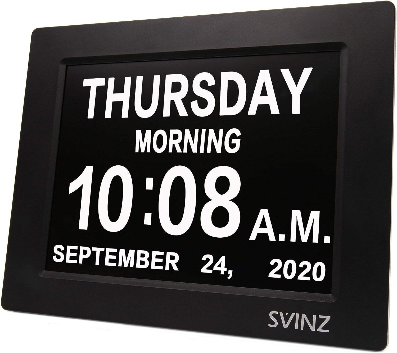 Newest SVINZ 5 Alarms Dementia Clock