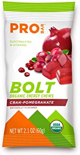 product image for PROBAR - Bolt Organic Energy Chews, Cranberry Pomegranate, Non-GMO, Gluten-Free, USDA Certified Organic, Healthy, Natural Energy, Fast Fuel Gummies with Vitamins B & C (12 Count)