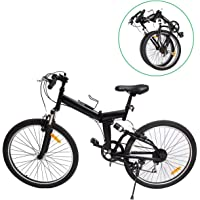 "Ridgeyard Mountainet 26"" 7 Vitesses Folding Bike Pliable vélos Vélo de Montagne Shimano (Noir)"