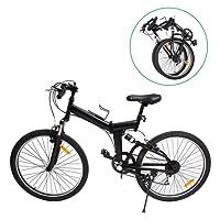 "Ridgeyard Mountainet 26"" 7-Gang Faltung faltbares Fahrrad Fahrrad Mountainbike Shimano(Schwarz)"